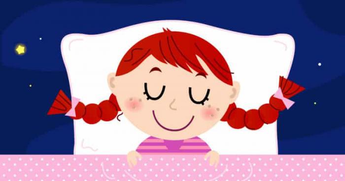 cartoon of girl in bed
