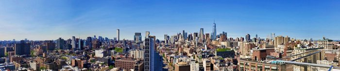 A panoramic view of Manhattan