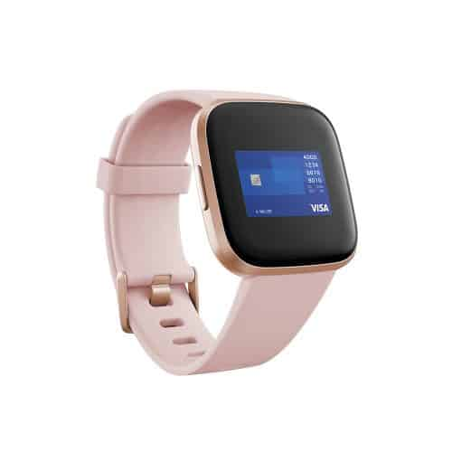 Fitbit Versa 2 Copper Rose Aluminum Case with petal silicone band - Fitbit Pay