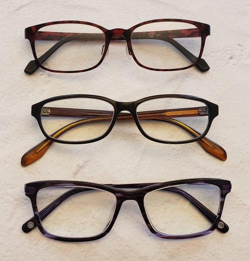 3 pairs of reading glasses