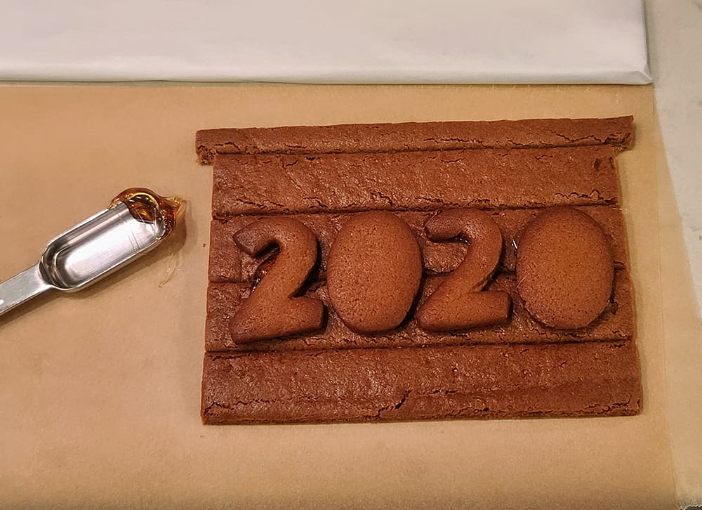 """2020"" in gingerbread"