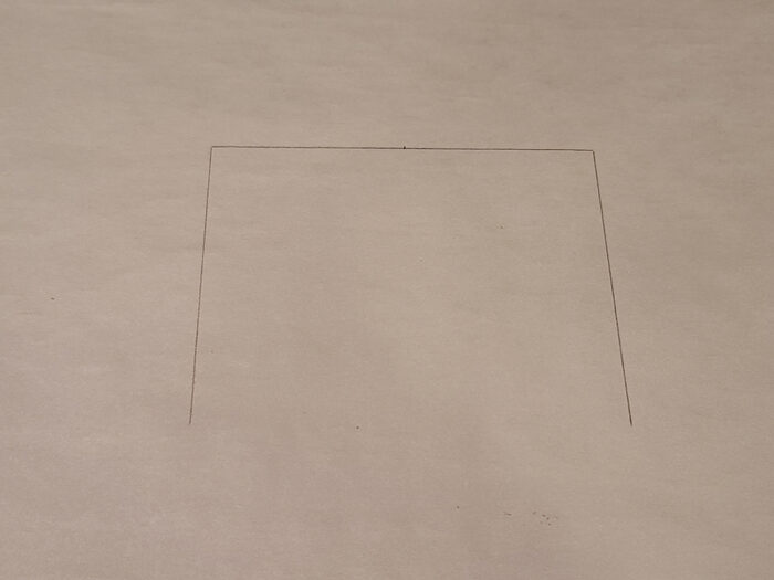 lines drawn on parchment paper