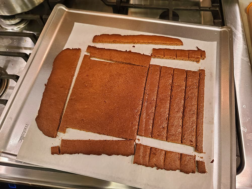 cut out pieces of gingerbread