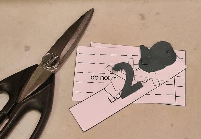 scissors and stencils