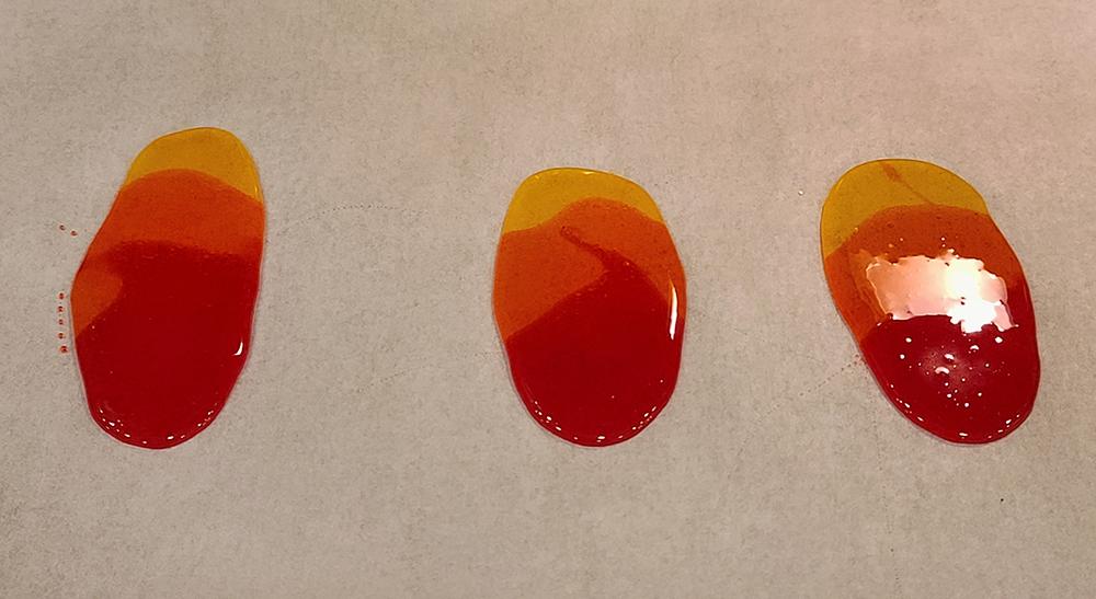 Isomalt flame circles progress